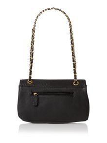 Kassie black stitch shoulder bag