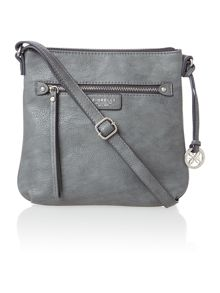 Phoebe grey cross body bag