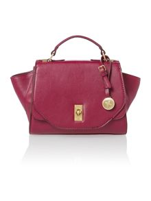 Layla pink small satchel bag