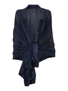 Satin edge shawl