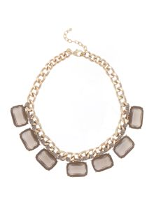 Persona Lia square jewels short necklace