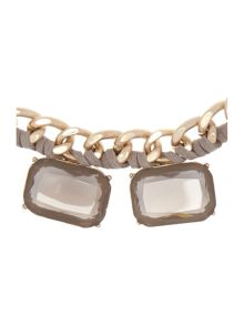 Lia square jewels short necklace