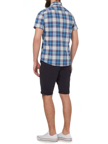 Criminal Oscar Check Short Sleeved Shirt