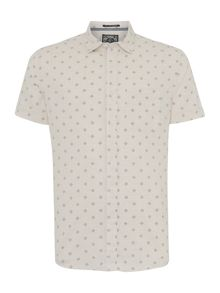 Criminal Chester Printed Short Sleeved Shirt