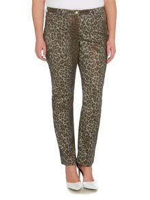 Persona Istinto metallic animal print jeans