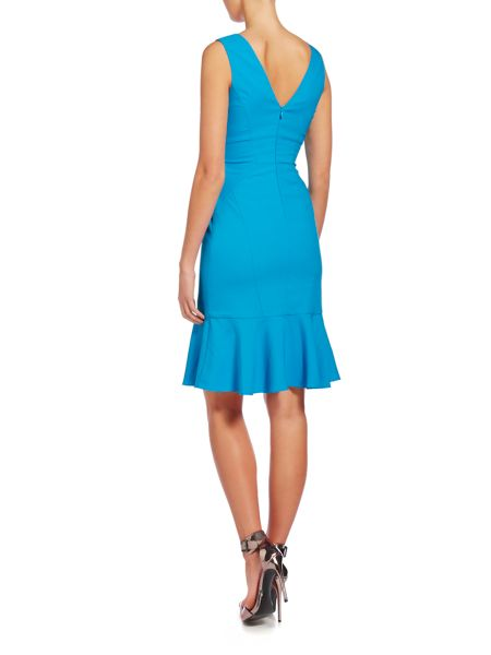 Untold V neck sleeveless dress with drop waist