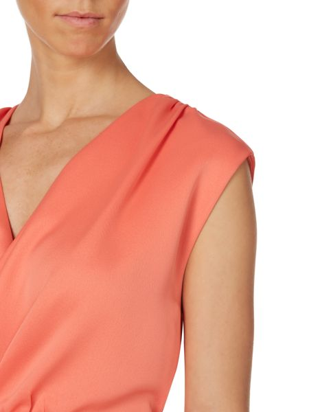 Untold V neck cross over drape dress