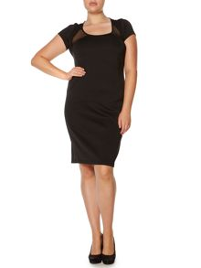Persona Plus Size Detector bodycon shoulder panel dress