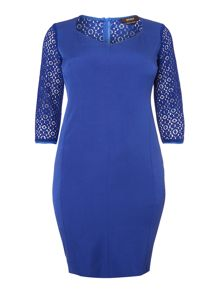 Decorato lace sleeve and back dress