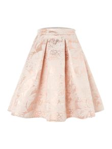 Untold Bonded jacquard fifties skirt