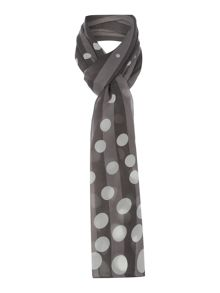 Spot Shadow Stripe scarf