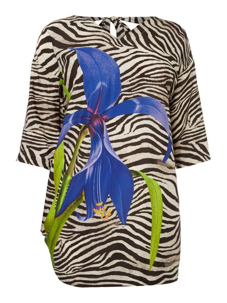 Persona Plus Size Fauna animal graphic print jersey top