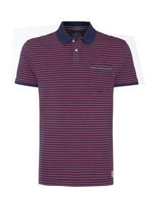 Clint stripe short sleeved polo
