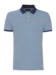 Criminal Clint Stripe Short Sleeved Polo