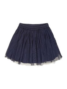Girls sequined layered skirt