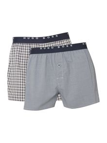 2 pack check woven boxer