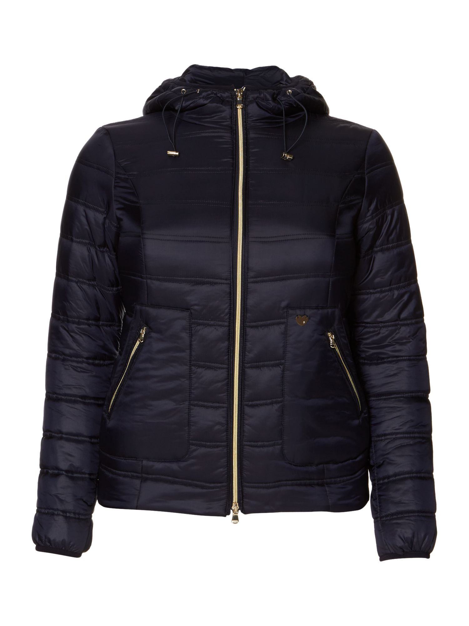 Persona Papaia Quilted Padded Coat, Navy