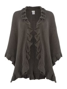 Textured Knit Frill Wrap