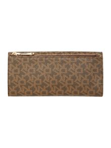 Heritage coated brown large flap over purse