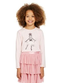 Girls long sleeved ballerina top