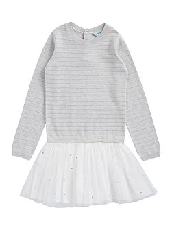 Girls knitted dress with tutu skirt
