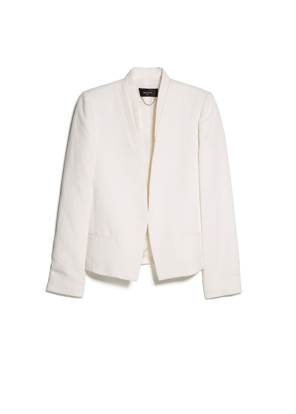 Textured Cotton Blazer