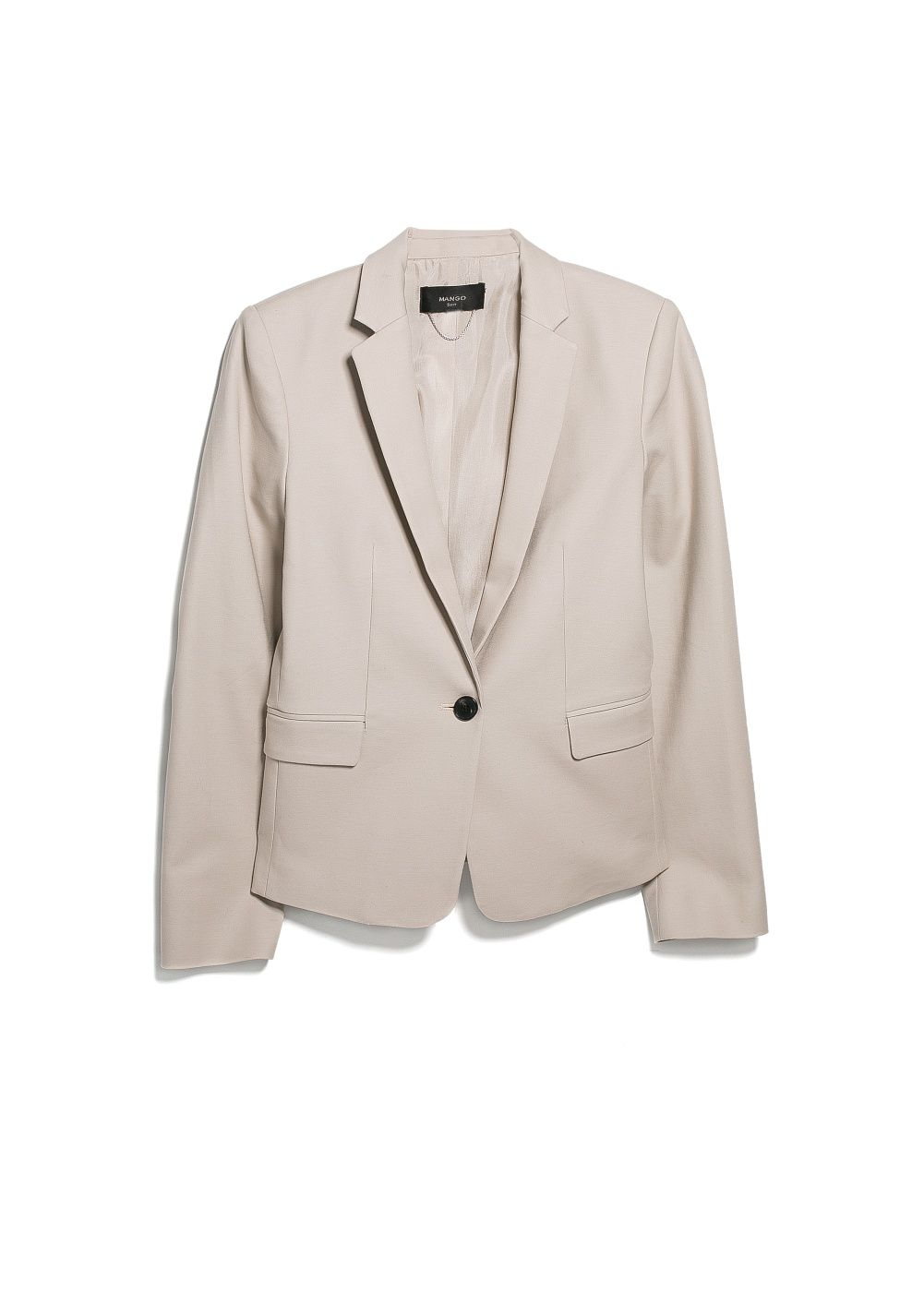 Essential cotton blend blazer