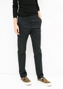 Poplin cotton trousers