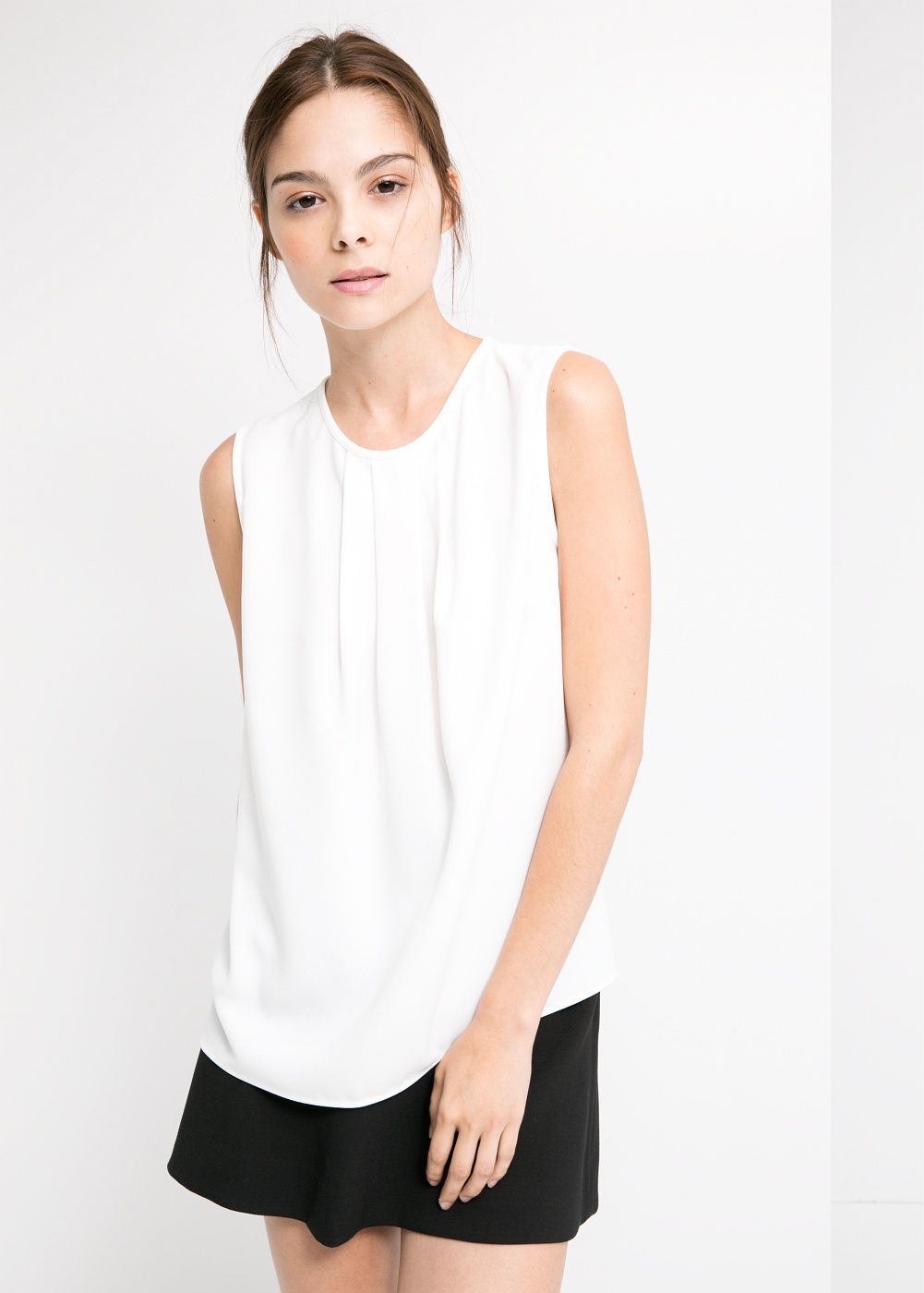 Pleat Crepe Top
