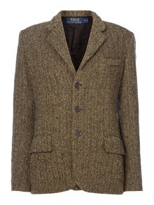 Long sleeved two button wool jacket