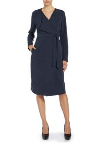 Long sleeve wrap front coat