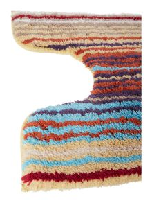 Christy Supreme stripe pedestal mat spice