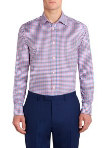 Carisle two colour check cotton shirt