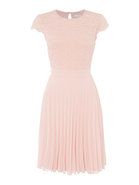 Untold Lace Top pleated skirt dress