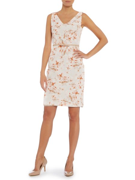 Max Mara Faraone short sleeved printed a line dress