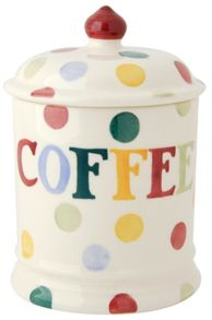 Emma Bridgewater Polka Dot Text Coffee Storage Jar