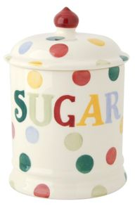 Polka Dot Text Sugar Storage Jar