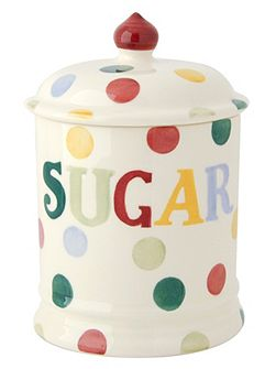 Emma Bridgewater Polka Dot Text Sugar Storage Jar