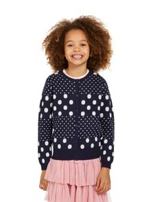 Girls all over spot cardigan