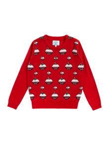 Girls christmas pudding jumper