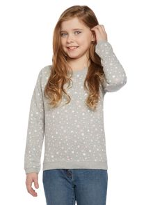 Girls All Over Star Printed Sweat Top