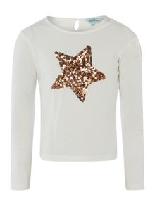 Girls long sleeve star top