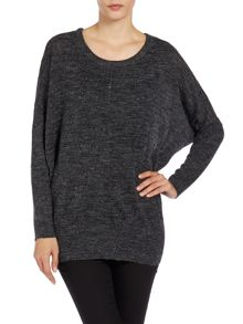Long sleeve crew neck oversized knit jumper