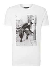 Strictly business graphic t shirt