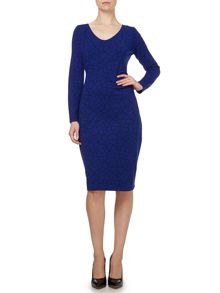 Side tuck ponte dress