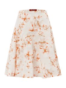 Lampara printed a line skirt