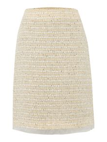 Max Mara Cantore boucle shift skirt