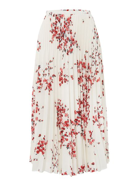 Max Mara Corinne pleated printed skirt