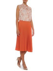 Tago knee length pleated skirt