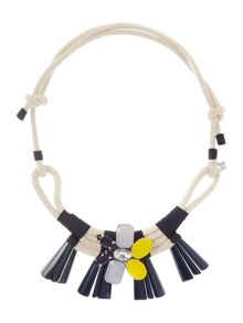 Uniparo jewel and rope necklace